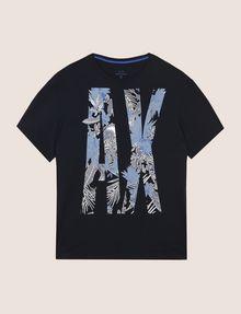 ARMANI EXCHANGE OVERSIZED FLORAL LOGO TEE Logo T-shirt Man r