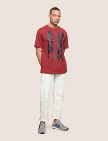 ARMANI EXCHANGE OVERSIZED FLORAL LOGO TEE Logo T-shirt Man d