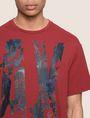 ARMANI EXCHANGE OVERSIZED FLORAL LOGO TEE Logo T-shirt Man b