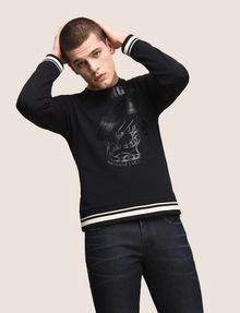 ARMANI EXCHANGE TONAL BULLDOG SWEATSHIRT TOP Fleece Top Man a