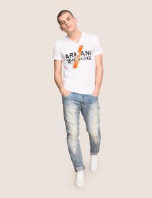 ARMANI EXCHANGE CLASH SOUNDWAVE LOGO TEE Logo T-shirt Man d