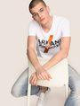 ARMANI EXCHANGE CLASH SOUNDWAVE LOGO TEE Logo T-shirt Man a