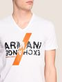 ARMANI EXCHANGE CLASH SOUNDWAVE LOGO TEE Logo T-shirt Man b