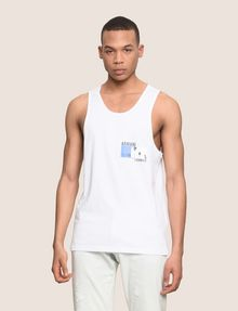 ARMANI EXCHANGE PALM LOGO RELAXED TANK Logo Tanks Man f