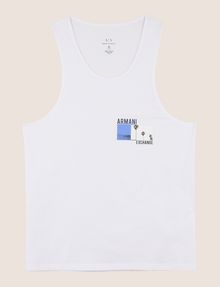 ARMANI EXCHANGE PALM LOGO RELAXED TANK Logo Tanks Man r