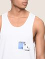 ARMANI EXCHANGE PALM LOGO RELAXED TANK Logo Tanks Man b