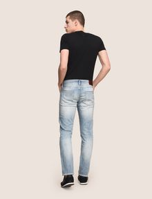 ARMANI EXCHANGE SLIM-FIT DESTROYED MESSAGE JEANS Slim fit JEANS Man e