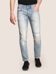 ARMANI EXCHANGE SLIM-FIT DESTROYED MESSAGE JEANS Slim fit JEANS Man f