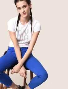 ARMANI EXCHANGE PIXEL RHINESTONE STUD TEE Logo T-shirt Woman a