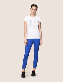 ARMANI EXCHANGE PIXEL RHINESTONE STUD TEE Logo T-shirt Woman d