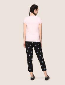 ARMANI EXCHANGE PIXEL RHINESTONE STUD TEE Logo T-shirt Woman e