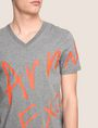 ARMANI EXCHANGE WRAP-AROUND WRITTEN LOGO TEE Logo T-shirt Man b