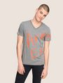 ARMANI EXCHANGE WRAP-AROUND WRITTEN LOGO TEE Logo T-shirt Man f