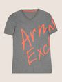 ARMANI EXCHANGE WRAP-AROUND WRITTEN LOGO TEE Logo T-shirt Man r