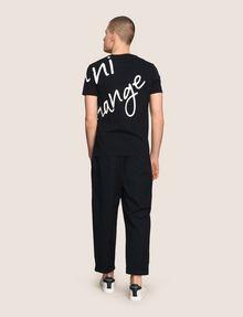 ARMANI EXCHANGE WRAP-AROUND WRITTEN LOGO TEE Logo T-shirt [*** pickupInStoreShippingNotGuaranteed_info ***] e