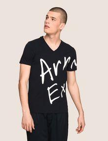 ARMANI EXCHANGE WRAP-AROUND WRITTEN LOGO TEE Logo T-shirt [*** pickupInStoreShippingNotGuaranteed_info ***] f