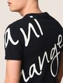 ARMANI EXCHANGE WRAP-AROUND WRITTEN LOGO TEE Logo T-shirt [*** pickupInStoreShippingNotGuaranteed_info ***] b