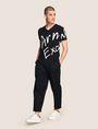 ARMANI EXCHANGE ビッグロゴ VネックTシャツ ロゴTシャツ メンズ d