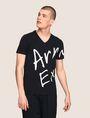 ARMANI EXCHANGE ビッグロゴ VネックTシャツ ロゴTシャツ メンズ f