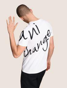 ARMANI EXCHANGE WRAP-AROUND WRITTEN LOGO TEE Logo T-shirt Man a
