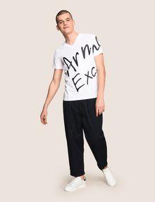 ARMANI EXCHANGE WRAP-AROUND WRITTEN LOGO TEE Logo T-shirt Man d