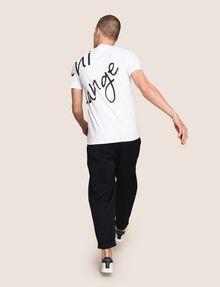 ARMANI EXCHANGE WRAP-AROUND WRITTEN LOGO TEE Logo T-shirt Man e