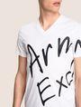 ARMANI EXCHANGE WRAP-AROUND WRITTEN LOGO TEE Logo T-shirt Man b