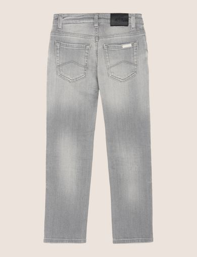 BOYS LIGHT GREY STRAIGHT-LEG JEAN