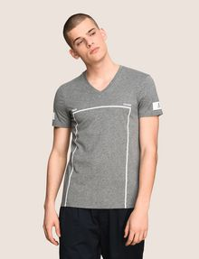 ARMANI EXCHANGE MINIMAL BOXED V-NECK TEE Logo T-shirt Man f