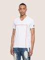 ARMANI EXCHANGE MINIMAL BOXED V-NECK TEE Logo T-shirt Man f