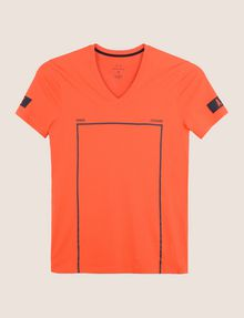 ARMANI EXCHANGE MINIMAL BOXED V-NECK TEE Logo T-shirt Man r