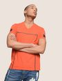 ARMANI EXCHANGE MINIMAL BOXED V-NECK TEE Logo T-shirt Man a