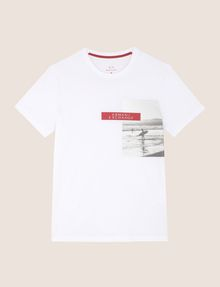 ARMANI EXCHANGE OFFSET SURFER PHOTO TEE Logo T-shirt Man r