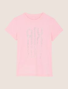 ARMANI EXCHANGE GIRLS RAINBOW STUD TEE Logo T-shirt Woman f