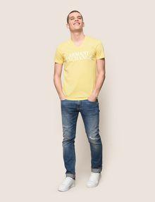 ARMANI EXCHANGE WAVE LOGO V-NECK Logo T-shirt Man d