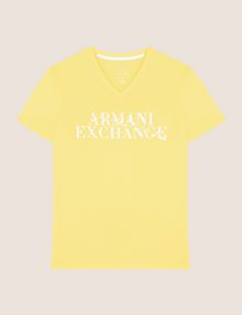 ARMANI EXCHANGE WAVE LOGO V-NECK Logo T-shirt Man r