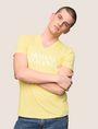 ARMANI EXCHANGE WAVE LOGO V-NECK Logo T-shirt Man a