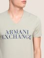 ARMANI EXCHANGE WAVE LOGO V-NECK Logo T-shirt Man b