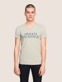 ARMANI EXCHANGE WAVE LOGO V-NECK Logo T-shirt Man f
