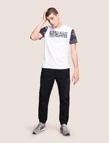 ARMANI EXCHANGE TROPICAL FLORAL SLEEVE CREWNECK Logo T-shirt Man d
