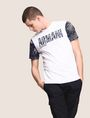ARMANI EXCHANGE TROPICAL FLORAL SLEEVE CREWNECK Logo T-shirt Man a