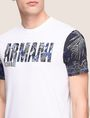 ARMANI EXCHANGE TROPICAL FLORAL SLEEVE CREWNECK Logo T-shirt Man b