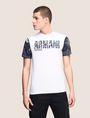 ARMANI EXCHANGE TROPICAL FLORAL SLEEVE CREWNECK Logo T-shirt Man f