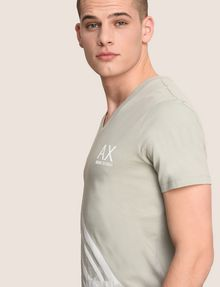 ARMANI EXCHANGE FADED WAVES SURFER TEE Logo T-shirt Man a