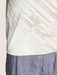 ARMANI EXCHANGE FADED WAVES SURFER TEE Logo T-shirt Man b