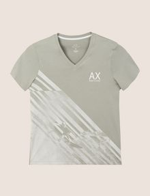 ARMANI EXCHANGE FADED WAVES SURFER TEE Logo T-shirt Man r