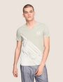 ARMANI EXCHANGE FADED WAVES SURFER TEE Logo T-shirt Man f