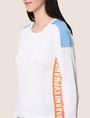 ARMANI EXCHANGE NEON LOGO CREWNECK SWEATER Pullover Woman b