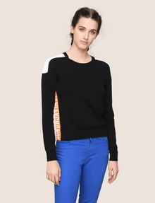 ARMANI EXCHANGE NEON LOGO CREWNECK SWEATER Pullover Woman f