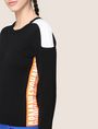 ARMANI EXCHANGE NEON LOGO CREWNECK SWEATER Pullover Woman b